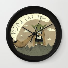 yodaling (grey colour option) Wall Clock