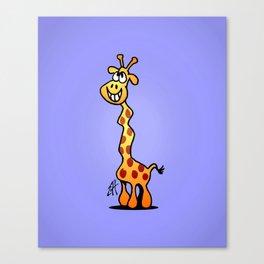 Joyfull Giraffe Canvas Print