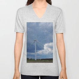 Windmill Park in Cap-Chat Unisex V-Neck