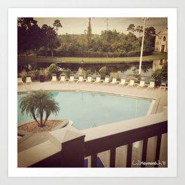Balcony Pool View Art Print