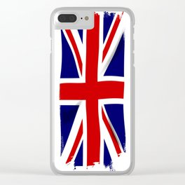 Union Jack Grunge Clear iPhone Case