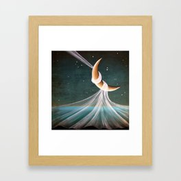When The Wind Blows - moon lullaby Framed Art Print