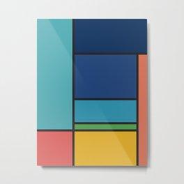 The Colors of / Mondrian Series - Ponyo- Miyazaki Metal Print