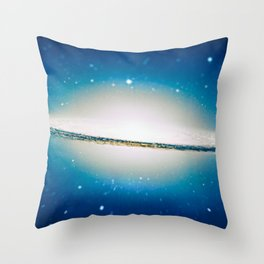 The little Galaxy (Majestic Sombrero Galaxy) Throw Pillow