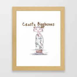 Crusty Bigglebones Framed Art Print