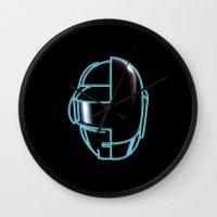 daft punk Wall Clocks featuring Daft Punk by Jason Michael