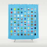 Minimalism beloved Videogame Characters Shower Curtain