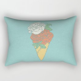 Rose ice cream Rectangular Pillow