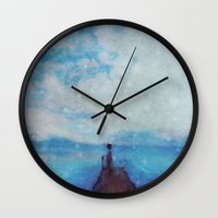 sleep Wall Clocks featuring Sleep by  Maʁϟ