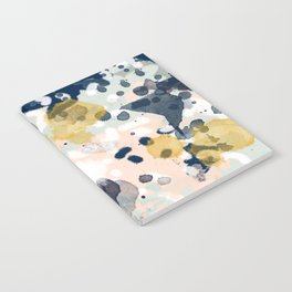 Esther - abstract minimal gold navy painting home decor minimalist hipster art Notebook