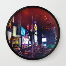 Times Square Lights Wall Clock