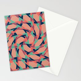 Lens on Geometric pattern 1977 Stationery Cards