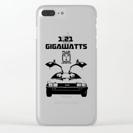 Delorean - Back to the future Clear iPhone Case