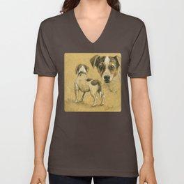 Jack Russel terrier SK080 Unisex V-Neck