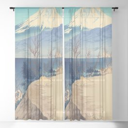 Tokuriki Tomikichiro 36 Views Of Fuji Japanese Woodblock Print Asian Historical Sheer Curtain