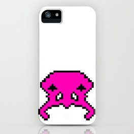 Pixel Invader : Pink iPhone Case