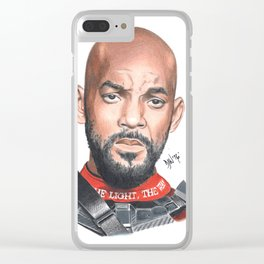 deadshot will smith Clear iPhone Case