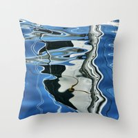 mirror Throw Pillows featuring Mirror by Anne Seltmann