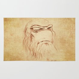 Leonardo's Self Portrait Rug