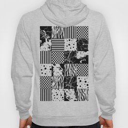Eclectic Black and White Squares Hoody