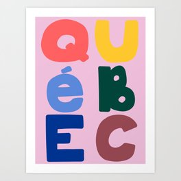 Mod Quebec Travel Poster Art Print