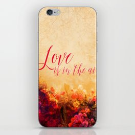 LOVE IS THE AIR Portrait iPhone Skin