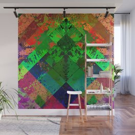 Beauty In Symmetry - Abstract, geometric, textured, symmetrical artwork Wall Mural