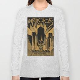 Metropolis, Fritz Lang, 19, vintage movie poster Long Sleeve T-shirt