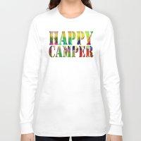 camp Long Sleeve T-shirts featuring Camp Fire by Gréta Thórsdóttir