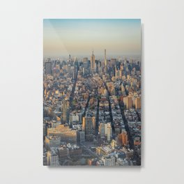 New York city skyline at sunset Metal Print