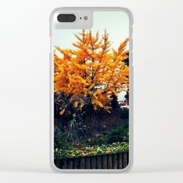 Paris in the Fall Clear iPhone Case