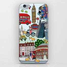 The Queen's London Day Out iPhone Skin