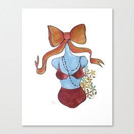 Bow Girl  Canvas Print