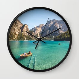 Mountain Adventures Wall Clock