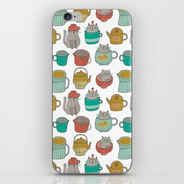 Pattern Project #5 / Cats and Pots iPhone Skin