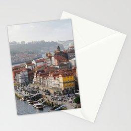 Porto's Cityscape. The Ribeira area alongside the Douro River. Stationery Cards