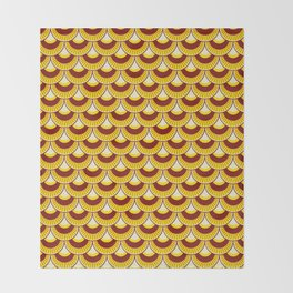 Koi Nobori Himawari Throw Blanket