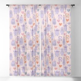 Funny monsters Sheer Curtain