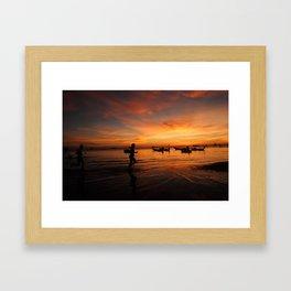 Sunrise on Koh Tao Island in Thailand Framed Art Print