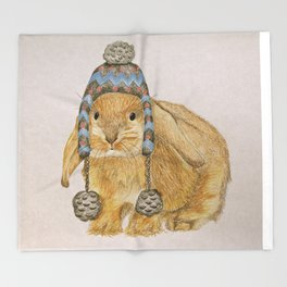Winter Bunny Throw Blanket