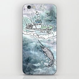 Fishing swordfish iPhone Skin