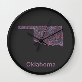 Oklahoma Wall Clock