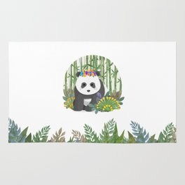 Panda in the forest Rug