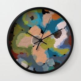 Abstact Flowers Wall Clock