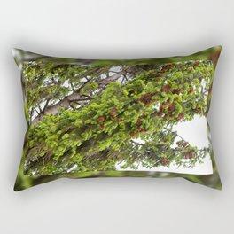 Large spruce fresh shoots Rectangular Pillow