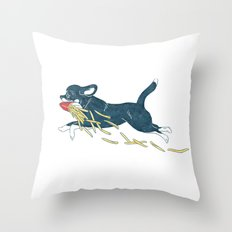 Chihuahua & French Fries Throw Pillow
