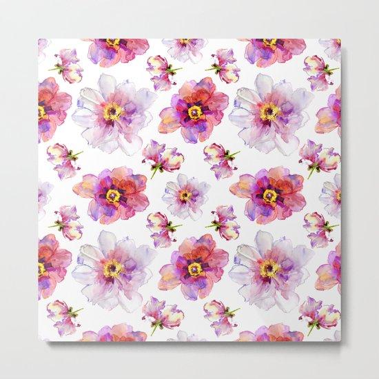Delicate Floral Pattern 03 Metal Print