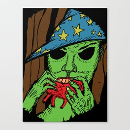The Warlock in the Woods Canvas Print