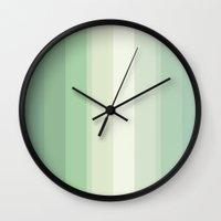 pantone Wall Clocks featuring green pantone by Sara Eshak