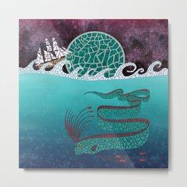 Ore Fish Mosaic Metal Print